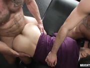 Lusty homosexual flip flop and creampie