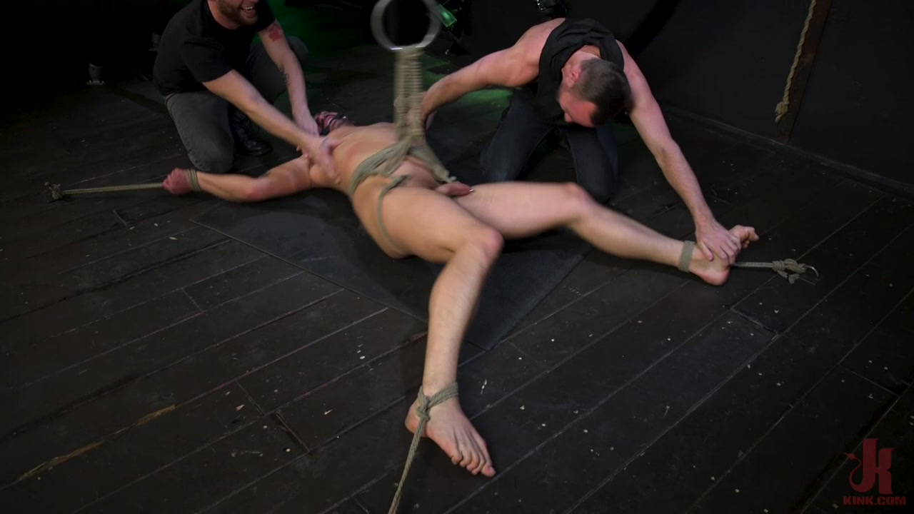 Kinky Viktor – New Sub Bound, Roped, Edged and Shoots A Fat Load