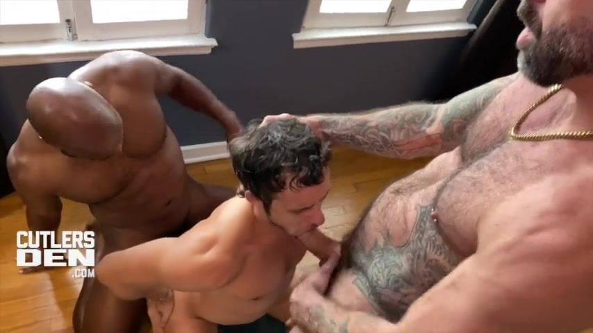 Cutler X, Drew Sebastian, and Nate Grimes interracial BB Threesome